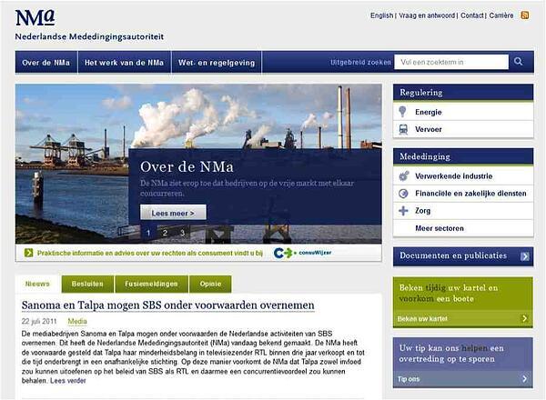 Website NMa after content migration