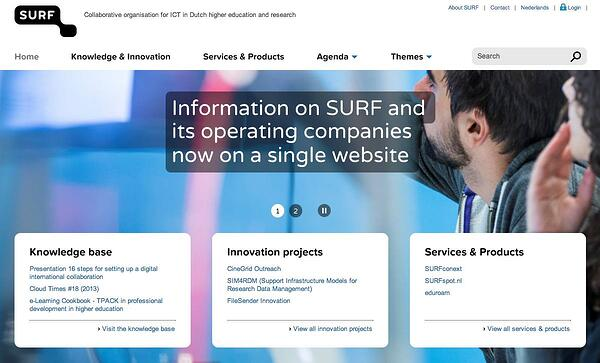 New website CMS SURF based on Hippo
