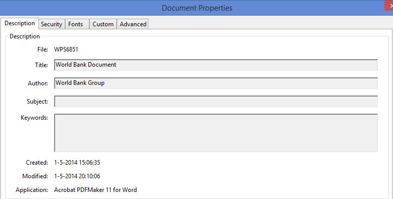 World Bank PDF properties