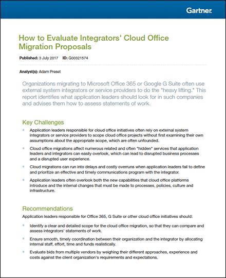 Gartner Cloud Report kader