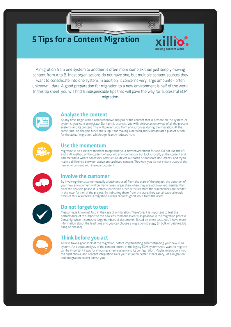 Tips for doing a content ECM migration