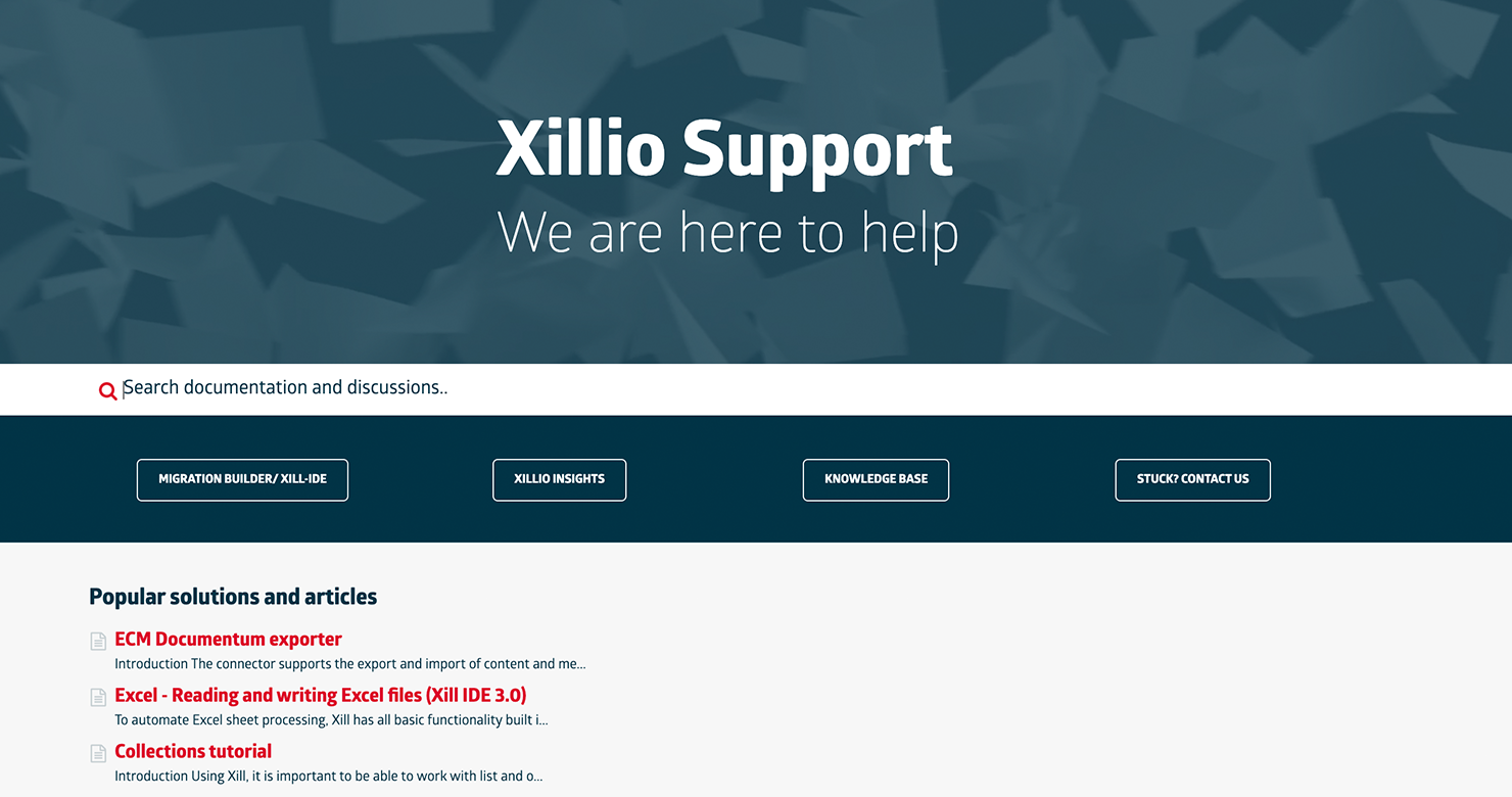 Support site for Xill