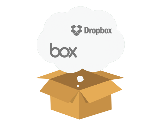 Migrate content to Dropbox or Box