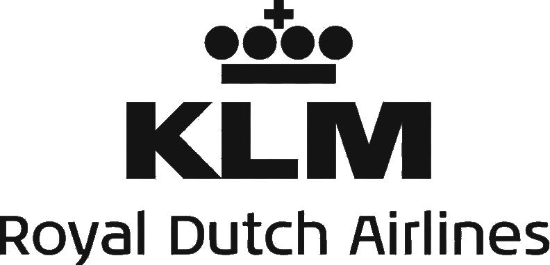 Black logo - KLM