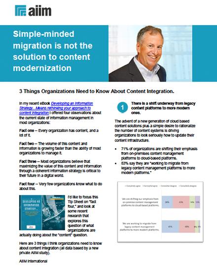 AIIM Tip Sheet content modernization