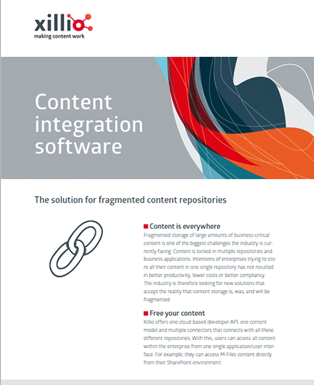 Flyer content integration software