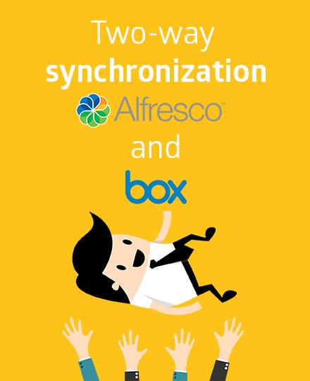 Synchronisatie Alfresco en Box