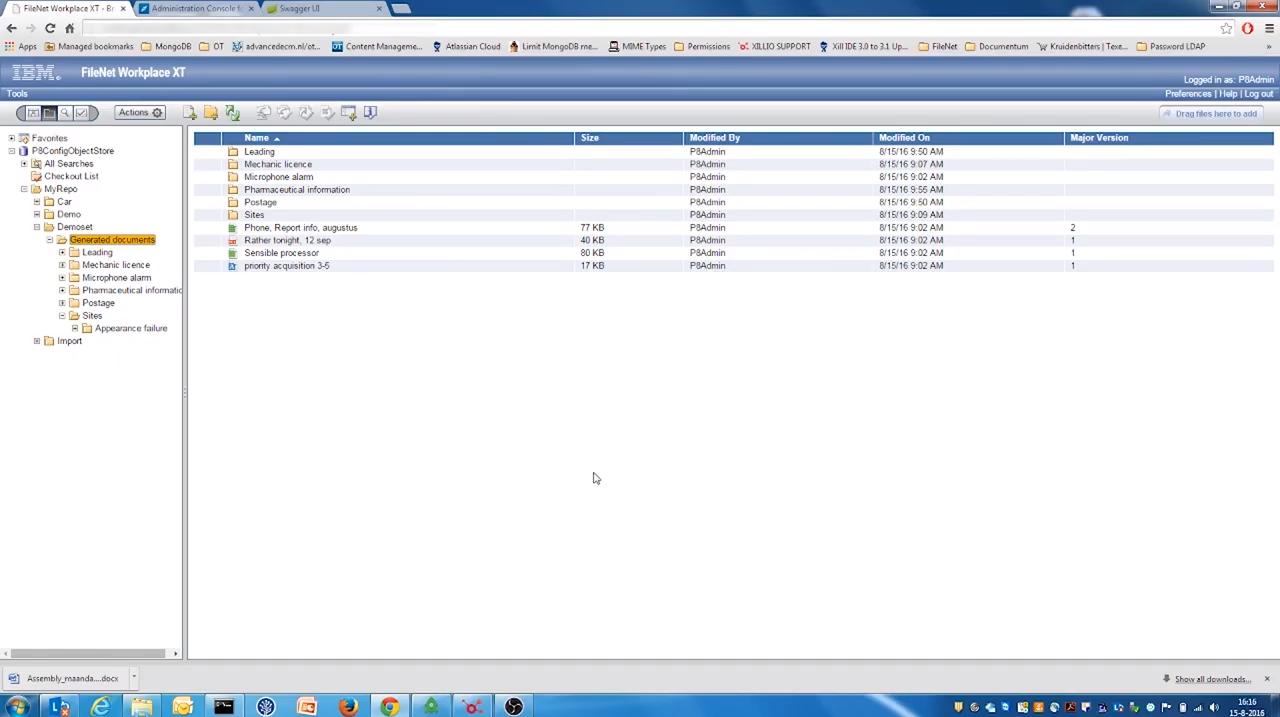 Export data from FileNet P8
