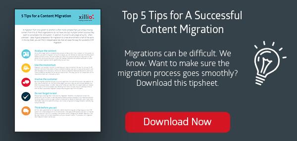Content migration for ECM, WCM, cloud